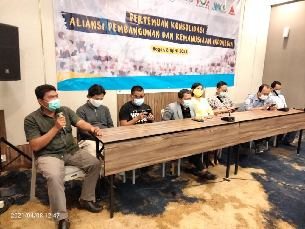 Deklarasi dan konferensi pers Aliansi Pembangunan dan Kemanusiaan Indonesia
