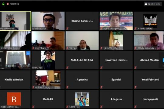 Merancang agenda respon Covid19 bersama stakeholder Agam melalui Konferensi Video